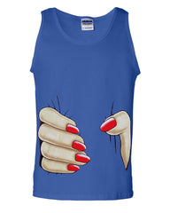 Giant Squeezing Hand Funny Tank Top Grabbing Hand - Tee Hunt - 3