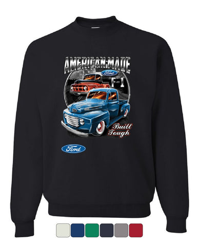 Ford Pickup Trucks F1 Sweatshirt American Made Hot Rod Built Tough Sweater
