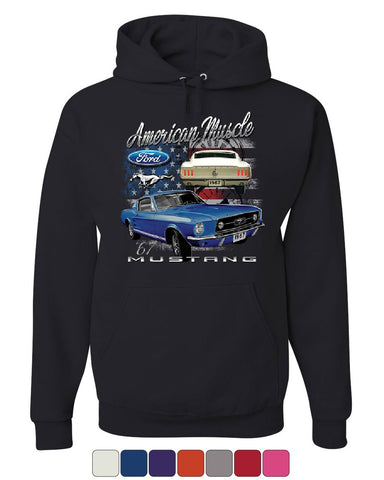 Ford Mustang Shelby 1967 GT Hoodie American Made Muscle Cars Sweatshirt