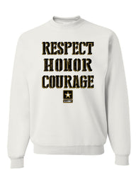United States Army Sweatshirt Respect Honor Courage U. S. Military Sweater