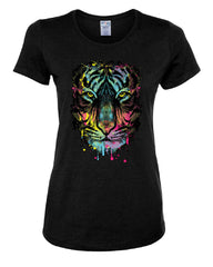 Neon Dripping Tiger Face T-Shirt Wildlife Rave Music Tee Shirt - Tee Hunt - 2