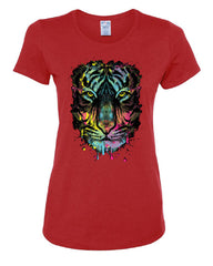 Neon Dripping Tiger Face T-Shirt Wildlife Rave Music Tee Shirt - Tee Hunt - 3