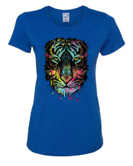 Neon Dripping Tiger Face T-Shirt Wildlife Rave Music Tee Shirt - Tee Hunt - 4