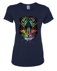 Neon Dripping Tiger Face T-Shirt Wildlife Rave Music Tee Shirt - Tee Hunt - 5