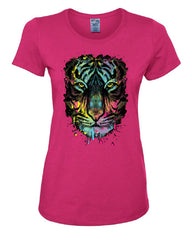 Neon Dripping Tiger Face T-Shirt Wildlife Rave Music Tee Shirt - Tee Hunt - 6