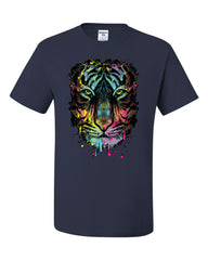 Neon Dripping Tiger Face T-Shirt Wildlife Rave Music Tee Shirt - Tee Hunt - 7
