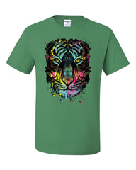 Neon Dripping Tiger Face T-Shirt Wildlife Rave Music Tee Shirt - Tee Hunt - 8