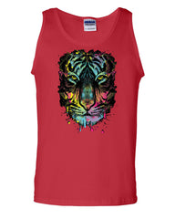Neon Dripping Tiger Face Tank Top Wildlife Rave Music - Tee Hunt - 5