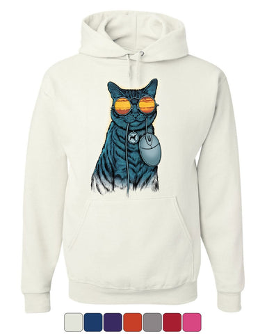 Cat and Mouse Hoodie Funny Cat Kitten Hacker AntiDog Anonymouse Sweatshirt