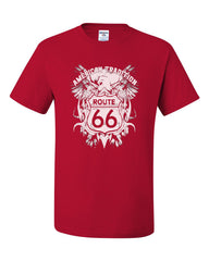 Route 66 American Tradition T-Shirt Biker Motorcycle Tee Shirt