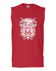Route 66 American Tradition Muscle Shirt Biker Motorcycle