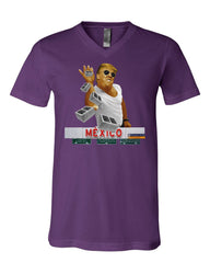A Pinch of the Wall V-Neck T-Shirt Trump Salt Bae Immigration Mexico Tee