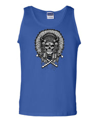Indian Headdress Skull Tank Top Native American Heritage