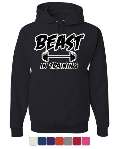 Beast In Training Hoodie Funny Gym Workout Fitness Sweatshirt - Tee Hunt - 1