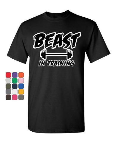 Beast In Training T-Shirt Funny Gym Workout Fitness Tee Shirt - Tee Hunt - 1