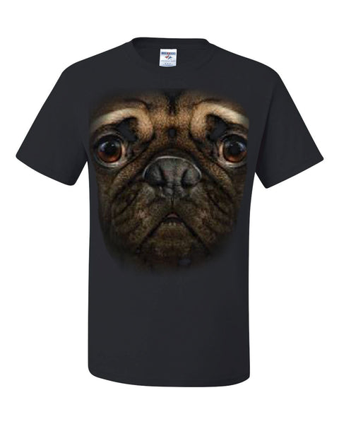 Pug Face T-Shirt Funny Pet Dog Tee Shirt - Tee Hunt - 1