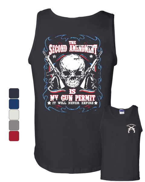 2nd Amendment Is My Gun Permit Tank Top Gun Rights - Tee Hunt - 1