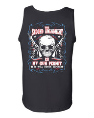 2nd Amendment Is My Gun Permit Tank Top Gun Rights - Tee Hunt - 2