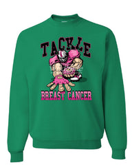 Tackle Breast Cancer Sweatshirt Pink Ribbon Awareness Football Cure Sweater