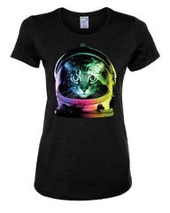 Space Cat T-Shirt Astronaut Kitten Neon Galaxy Tee Shirt - Tee Hunt - 2
