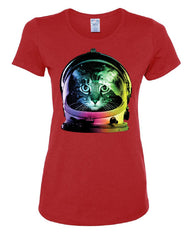 Space Cat T-Shirt Astronaut Kitten Neon Galaxy Tee Shirt - Tee Hunt - 3