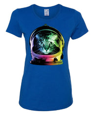 Space Cat T-Shirt Astronaut Kitten Neon Galaxy Tee Shirt - Tee Hunt - 4
