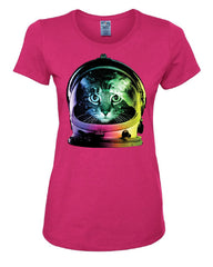 Space Cat T-Shirt Astronaut Kitten Neon Galaxy Tee Shirt - Tee Hunt - 6