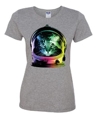 Space Cat T-Shirt Astronaut Kitten Neon Galaxy Tee Shirt - Tee Hunt - 7