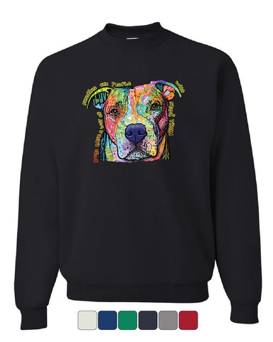 Dean Russo Dogs Have a Way Sweatshirt Pet Animal Lover Cute Pitbull Sweater
