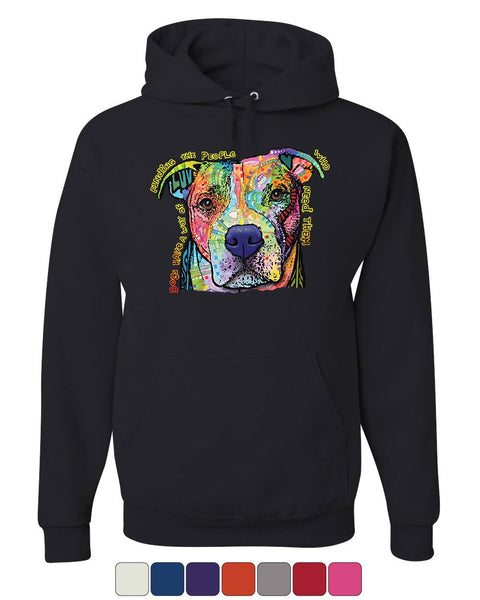 Dean Russo Dogs Have a Way Hoodie Pet Animal Lover Cute Pitbull Sweatshirt
