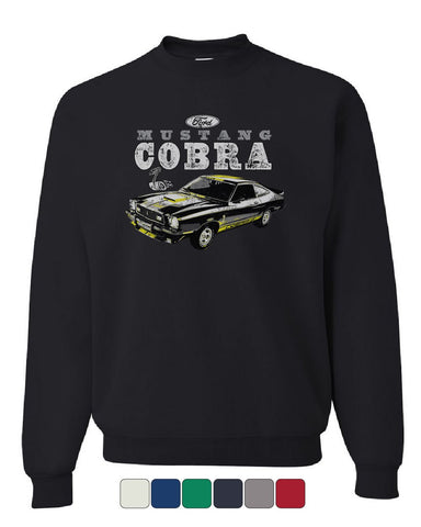 Ford Mustang Cobra Sweatshirt American Classic Muscle Car Licensed Sweater
