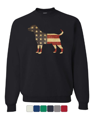 American Dog Sweatshirt Stars and Stripes Retriever Bulldog Pitbull Sweater