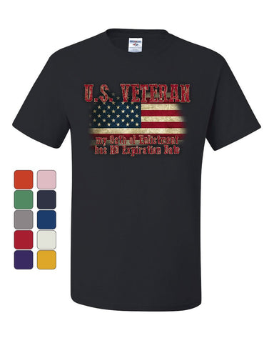 US Veteran Oath of Enlistment T-Shirt Military Army Marine Navy Tee Shirt