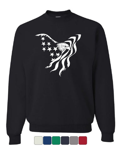 Bald Eagle Flag Sweatshirt 4th of July Patriotic American Flag USA Sweater