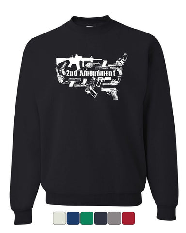 2nd Amendment US Silhouette Sweatshirt Right to Bear Arms 2A Guns Sweater