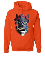 Crazy Old Cat Lady Hoodie Dogs Stink Funny Kitten Cat Lover Pet Sweatshirt