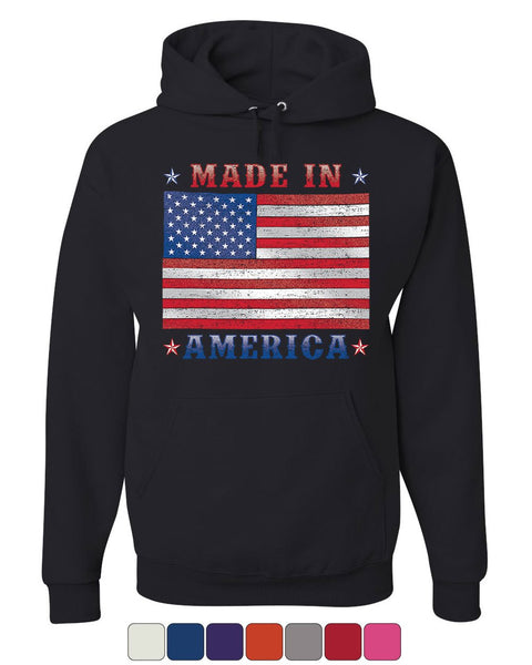Made in America Hoodie 4th of July Stars and Stripes Patriot Sweatshirt