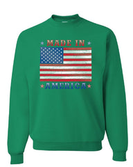 Made in America Sweatshirt 4th of July Stars and Stripes Patriot Sweater