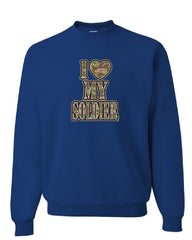 I Heart My Soldier Sweatshirt Cute Camo Army Wife Army Mom Military Sweater