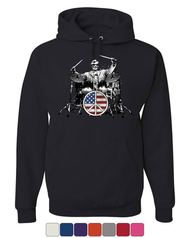 Abraham Lincoln Rock & Roll Star Hoodie Lincoln Memorial Peace Sweatshirt