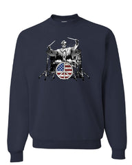 Abraham Lincoln Rock & Roll Star Sweatshirt Lincoln Memorial Peace Sweater