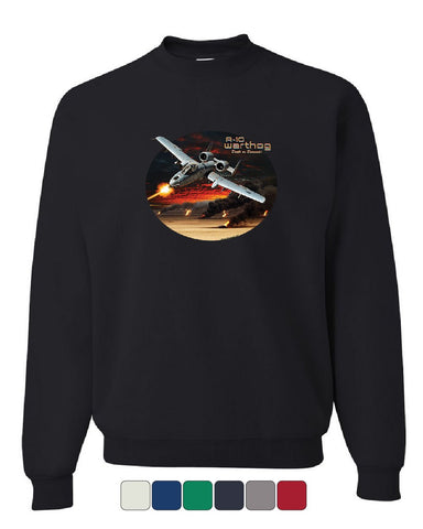 A-10 Warthog Sweatshirt Air Force Ground Attack Support Aircraft Sweater