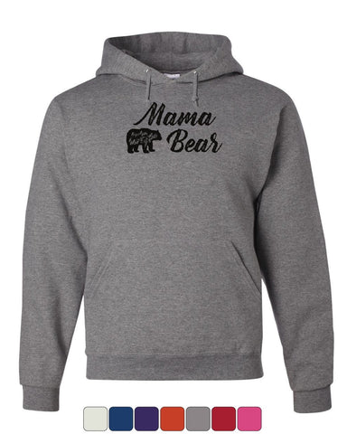 Mama Bear Hoodie Mom Mother's Day Family Cute Camping Tourism Sweatshirt