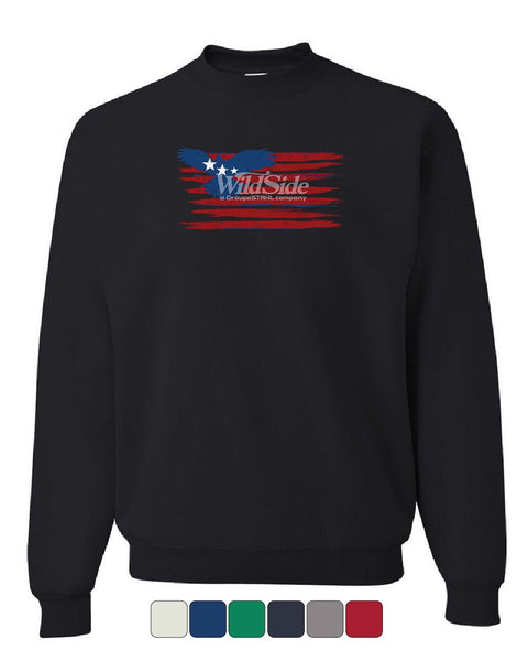 Stars and Stripes Bald Eagle Flag Sweatshirt Patriotic 4th of July Sweater