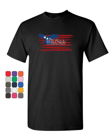 Stars and Stripes Bald Eagle Flag T-Shirt Patriotic 4th of July Mens Tee Shirt