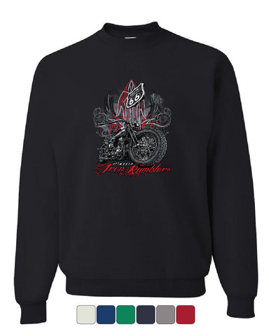 Route 66 Classic Iron Rumblers Sweatshirt Chopper Bobber Biker MC Sweater