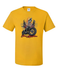 Route 66 Classic Iron Rumblers T-Shirt Chopper Bobber Biker MC Tee Shirt