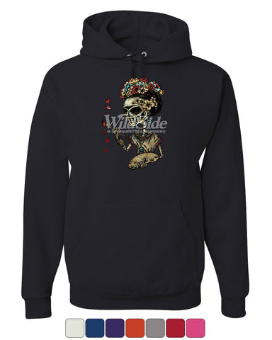 Day of the Dead Frieda Kahlo Hoodie Calavera Dia de los Muertos Sweatshirt