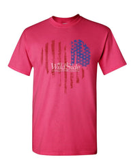 American Heart Flag T-Shirt 4th of July Stars and Stripes USA Mens Tee Shirt