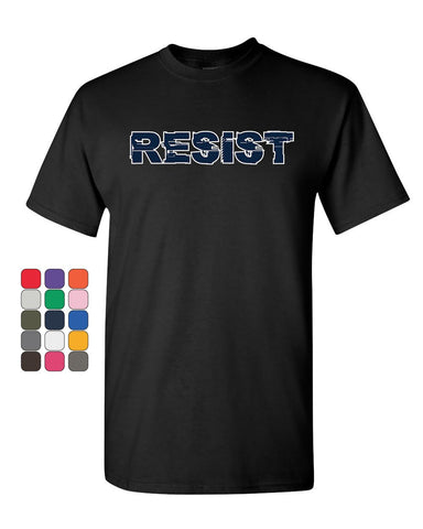 Resist T-Shirt Anti Trump Not My President Impeach 45 Patriotic Mens Tee Shirt